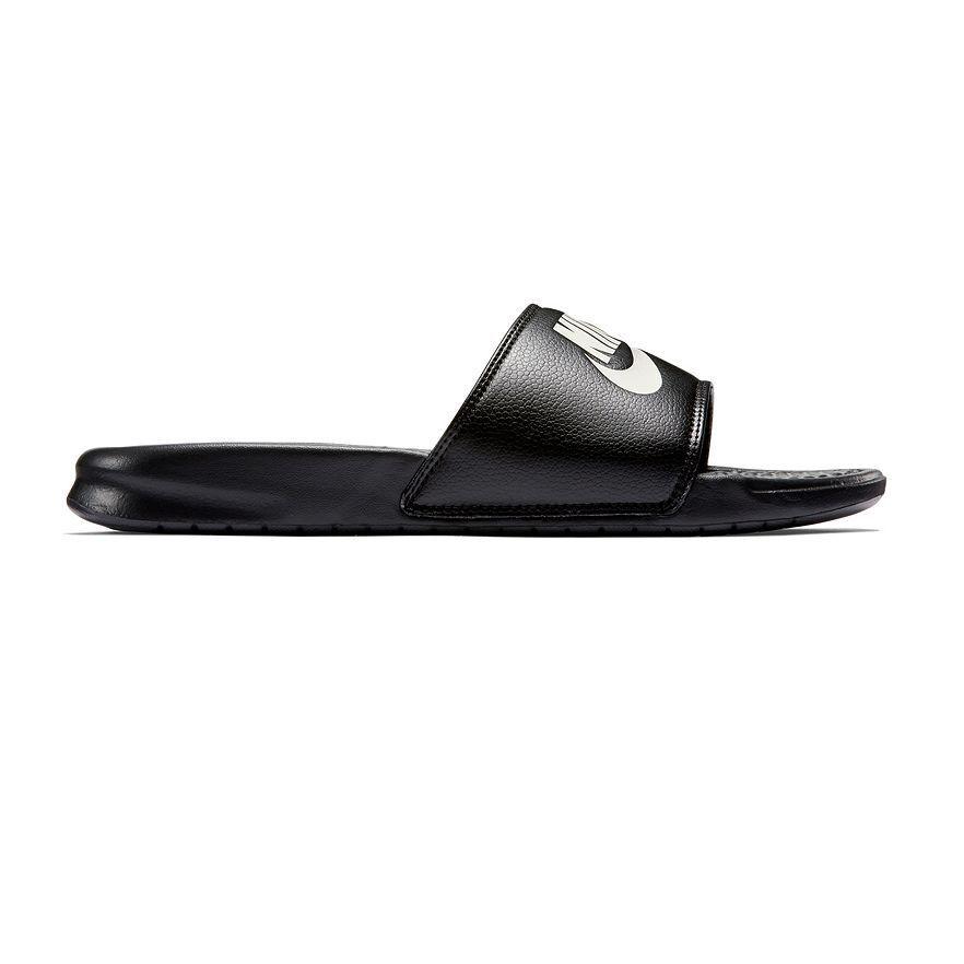 New Men's Nike Benassi JDI Slide Sandals Black/White size  7 8 9 10 11 12 13