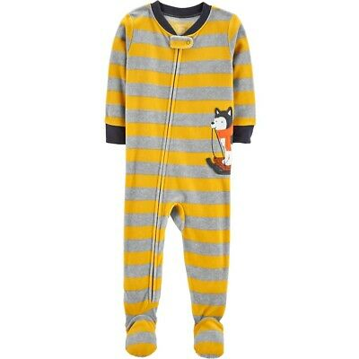 - NWT ☀FOOTED FLEECE☀ CARTER'S Boys HUSKY DOG  Pajamas  YOU PICK  3T  4T  5T