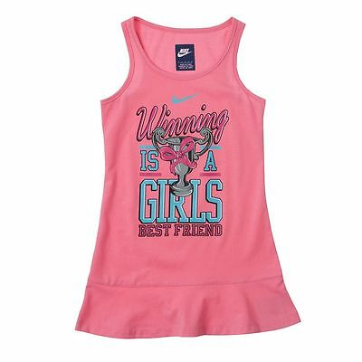 NIKE Toddler Girls Sleeveless Summer Dress 2T 3T 4T NWT Pink Play Athletic (Nike Summer Dress)