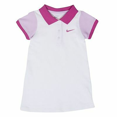NIKE Colorblock Polo Dress Tennis Casual White Pink NWT 2T 3T Play Summer (Nike Summer Dress)