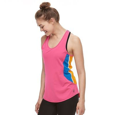 FILA Sport Womens Racerback Running WICKING Work Out TANK TOP Size S L NWT
