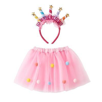 Happy Birthday Tutu (NEW Happy Birthday Tutu Skirt & Birthday Headband Crown)