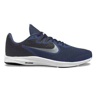 NEW MEN'S NIKE DOWNSHIFTER 9 RUNNING SHOES! IN NAVY BLUE! EXTRA WIDE -