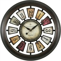 FirsTime Numeral Plaques Wall Clock, Multicolor