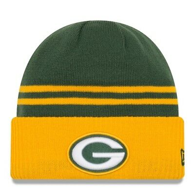 Green Bay Packers winter Knit Cap Hat Beanie pom pom -Adult for sale  Bountiful