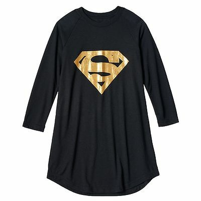 DC Comics Gold Supergirl Nightgown Pajamas Size 6/6X NWT