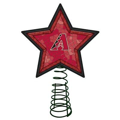ARIZONA DIAMONDBACK Mosaic Christmas Tree Topper Baseball Ornament Light Up Star
