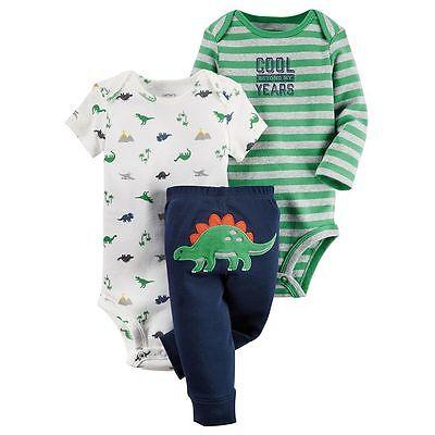 NEW Carter's Outfit Dinosaur 3-Piece Set - Pants, 2 Bodysuits - Size 24 month