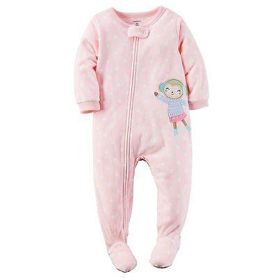 Carter's 104/110 Schlafanzug Fleece Einteiler Mädchen Winter Reißverschluss neu