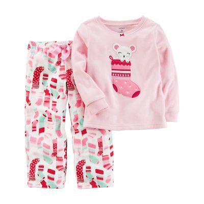 NWT ☀FLEECE☀ CARTERS Girls  Pajamas CHIRSTMAS  MOUSE  New  10