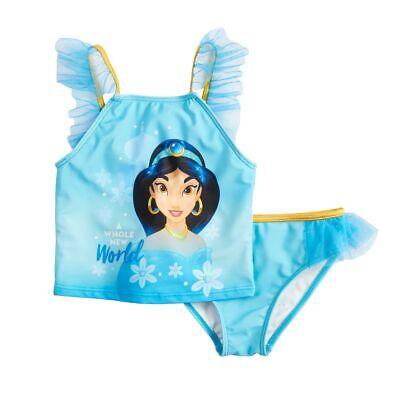 NWT LICENSED Disney Princess Jasmine Aladdin Swimsuit Bathing Suit 5 6 6X (Disney Princess Bathing Suit)