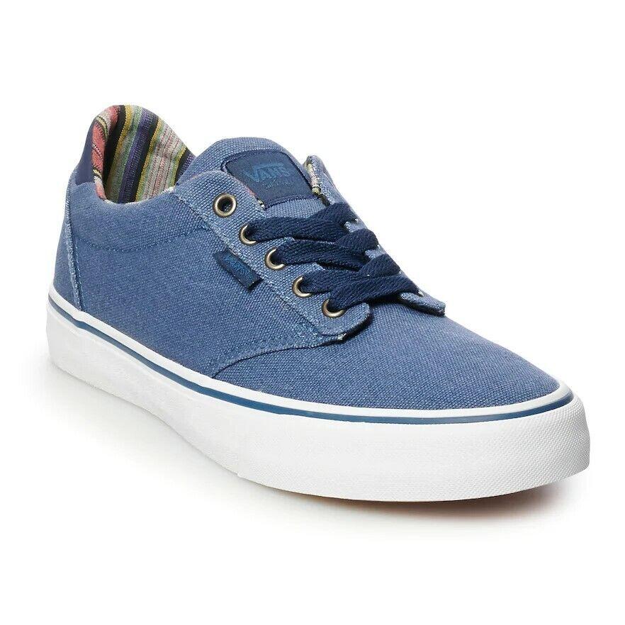 NEW NIB Men's Vans Atwood DX Skate Shoes Size 9 Sailor Blue