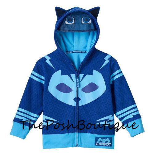 NWT LICENSED PJ Masks Catboy Boy Girl Costume Hoodie Jacket Mask 2T 3T 4T 5T