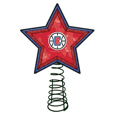 Los Angeles Clippers Mosaic Christmas Tree Topper NBA Basketball Light Up Star