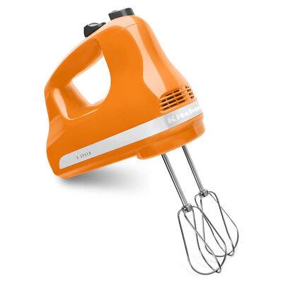 KitchenAid KHM512 5-Speed Ultra Power Hand Mixer-Orange Brand New