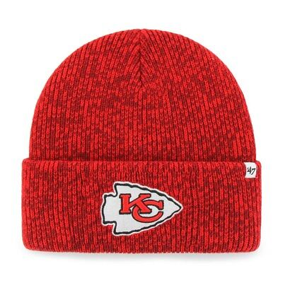 Kansas City Chiefs Beanie Brain Freeze Cuff Knit Hat Cap  **free shipping* - Chiefs Hats