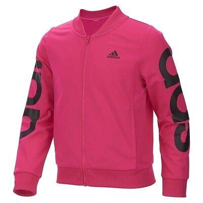 New Adidas Girls Lightweight Bomber Jacket - Girls Pink Jackets