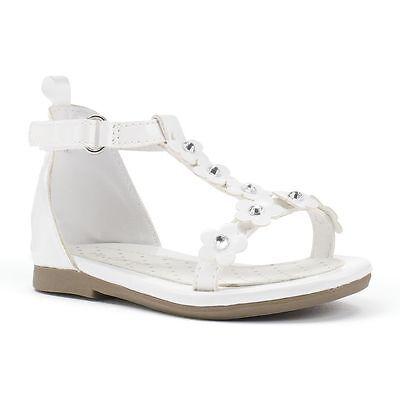 Carter's Toddler White Sandals ALISA 2 Flower Girl Rhinestone White Size 5 6 NEW - Flower Girl Sandals