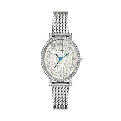 Wittnauer Women's WN4038 Quartz Oval Silver-Tone Bracelet 28mm Watch