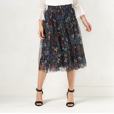 - LAUREN CONRAD Disney Snow White Collection Floral Tulle Skirt XS- S- M- L-XL NEW