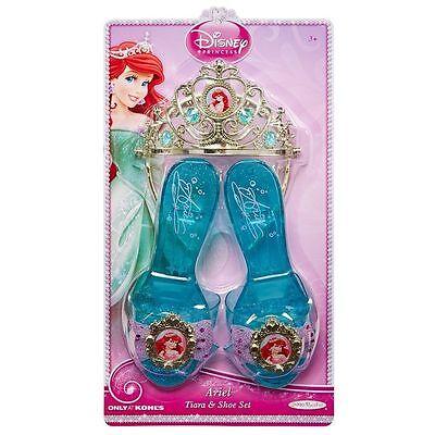Disney Princess' Ariel Schuhe & Tiara Crown Set Verkleiden Mode Kostüm ()
