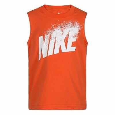 NWT Nike Little Boys Dissolve Graphic  Sleeveless Tee Tank Top Orange FREE -