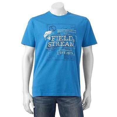 Field   Stream Deep Water Blue Crew Neck Short Sleeve Tee Nwt Men Xxl  Free Ship