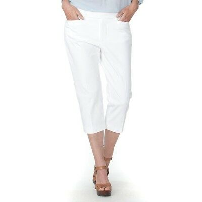 Plus Size Stretch Twill-capri (Chaps Plus Size Stretch-Twill Capri Pants - White - Size: 22W MSRP $65.00)