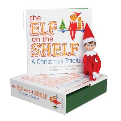 Elf on The Shelf: A Christmas Tradition Book & Blue Eyed Boy Scout Elf Doll