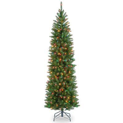 National Tree Company 7.5' prelit multi Kingswood Fir Pencil Christmas (Kingswood Fir Pencil Pre Lit Christmas Tree)