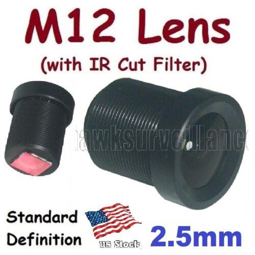 Sunvision CCTV 2.5mm Monofocal 130⁰ AOV M12 Board Lens + IR Cut Filter for FPV