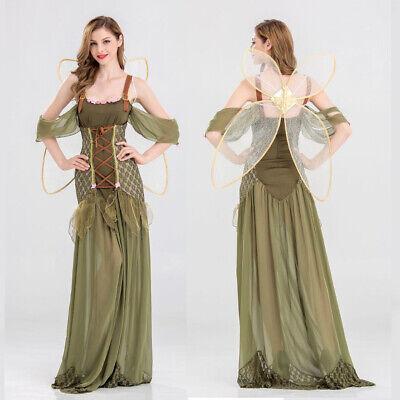 Green Mermaid Skirt Costume (Women Fairy Fancy Maxi Dress Princess Mermaid Skirt High Waist Costume Prom)