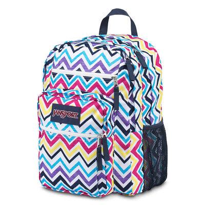 JanSport Big Student Backpack/Book bag/Bag   2100 cu.in. Multi Saucy Chevron