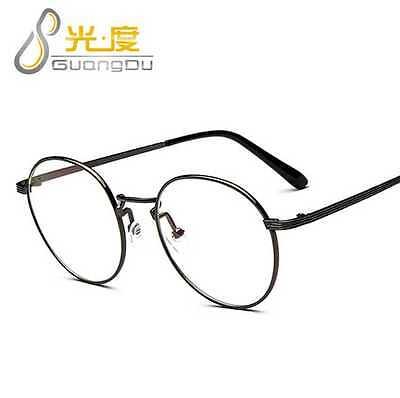 Korean Retro Round Glasses Frame Clear Lens Women Men Eyewear Vintage (Korean Eyewear)
