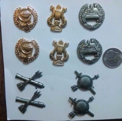 Set of 10 paired (5 pairs) modern Russia federation army collar insignias.