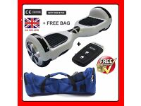 HoverBoard Two Wheel Balancing Electric Scooter Swegway in White + Remote Control Key + Bag