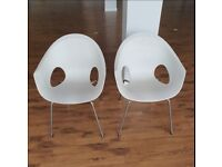 Connection Plastic Moulded Multipurpose Dining Chair, White
