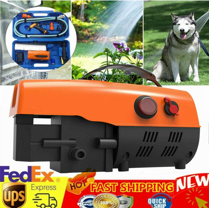 Car Pressure Washer Cleaner Portable Wash Gun Kit Water Pump w/Dual Power Supply