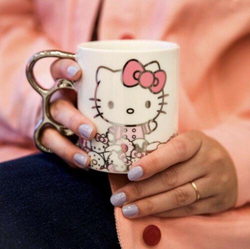 Brand New Hello Kitty Cafe Exclusive Silver Bow Mug RARE