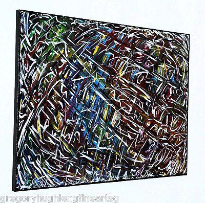 """Bohemian Rhapsody""   ORIGINAL FINE ART  Jackson Pollock  American Artist LENG"