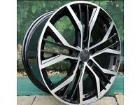 "x4 18"" Vw Golf Santiago Style Alloy Wheels Golf GTD GTI Caddy Passat Audi Seat"