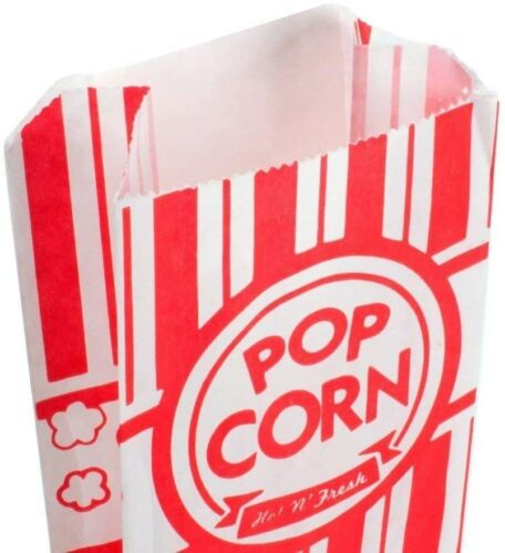 "Pine Paper Popcorn Bags,3"" x 1 1/2"" x 7"" .6 oz Pack of 50"