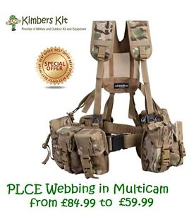 COMPLETE PLCE WEBBING 6 PIECE SET MTP MULTICAM BRITISH ARMY AMMO UTILITY POUCH