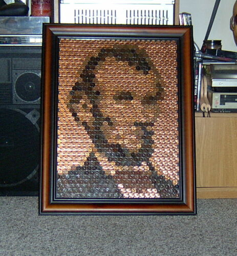 Penny Portrait Kit - Picture of Lincoln Made from Lincoln Cents 18X24 You Create