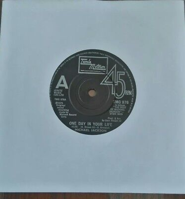 """MICHAEL JACKSON - One Day in Your Life - 7"""" Vinyl  - 1975 - Motown"""