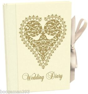 wedding planner book love doves vintage diary journal organiser engagement gift ebay. Black Bedroom Furniture Sets. Home Design Ideas