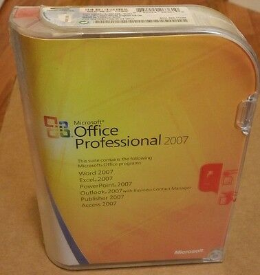MICROSOFT OFFICE PROFESSIONAL 2007 FULL RETAIL VERSION WITH PRODUCT KEY