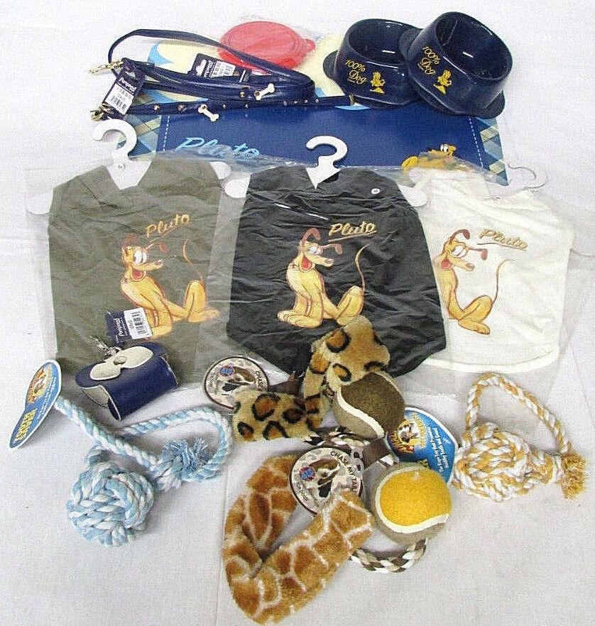 Discontinued Disney Pluto Medium Dog Kit Collar Leash Bowl M