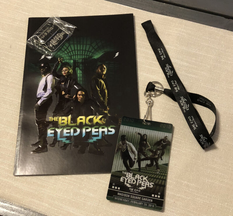 Black Eyed Peas 2010 THE END World Tour CONCERT Memorabilia Book Lanyard Tags