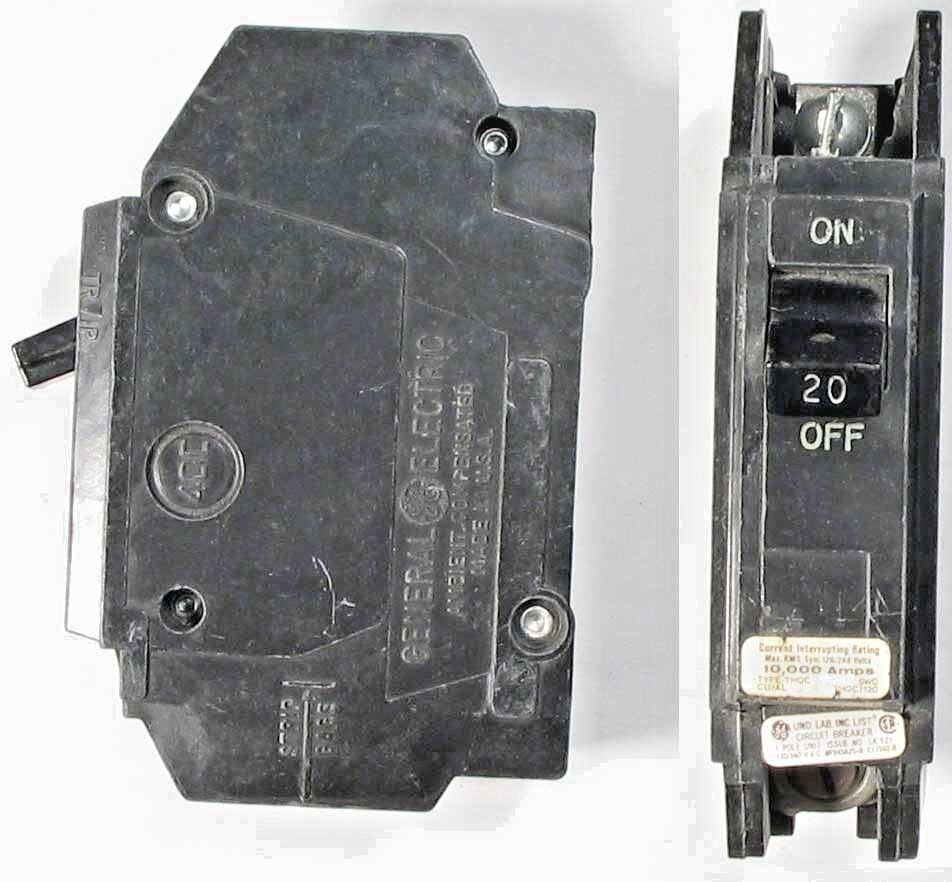General Electric Thqc 20a 120 240 Vac 1 Pole Circuit Breaker 6yc Mpd2200 Murray New Used And Obsolete
